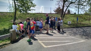 East Lyme Elementary School children learn about nonpoint source pollution (NPS) and stormwater management at the Hole in the Wall Outdoor Classroom in east Lyme.